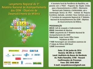 convite lançamento relatorio ODM ld