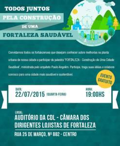 Convite – Fortaleza: Construção de uma cidade saudável