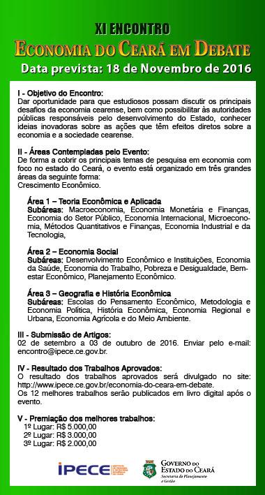 XI Encontro Economia do Ceará em Debate