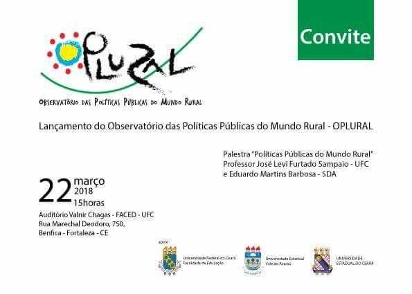 Estreia do OPLURAL e Palestra sobre Políticas Públicas do Mundo Rural