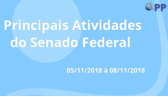 Principais Atividades da Semana do Senado Federal