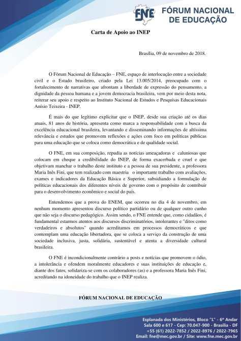 CARTA DE APOIO AO INEP-1
